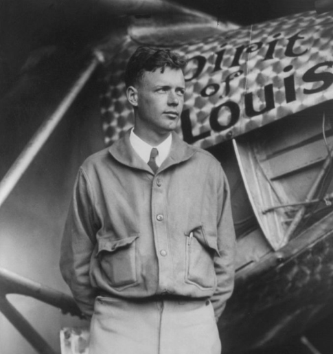 charles lindbergh shortly before his solo flight to paris