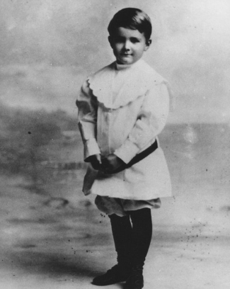 Howard Hughes as a boy
