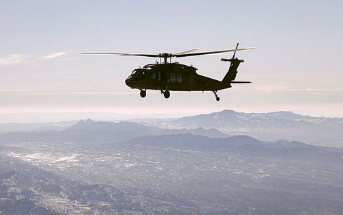 Black Hawk over Afghanistan