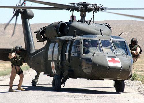 Medevac helicopter