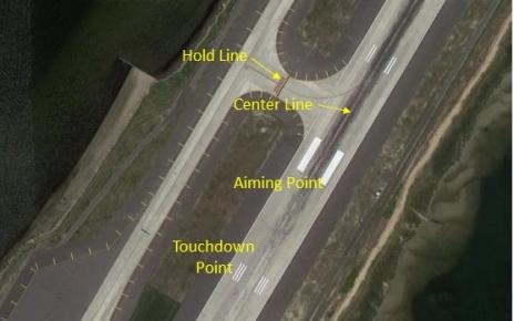 runway markings at a major airport