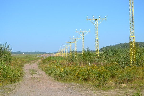 approach lighting system as seen from the ground
