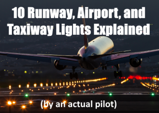 runway airport taxiway lights explained