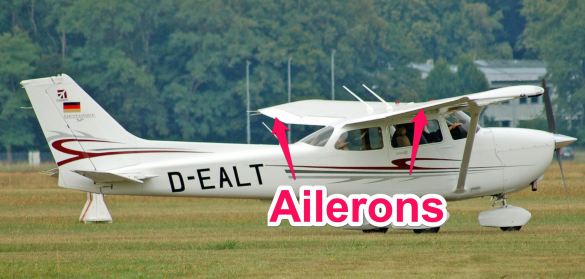 cessna 172 ailerons - parts of an airplane