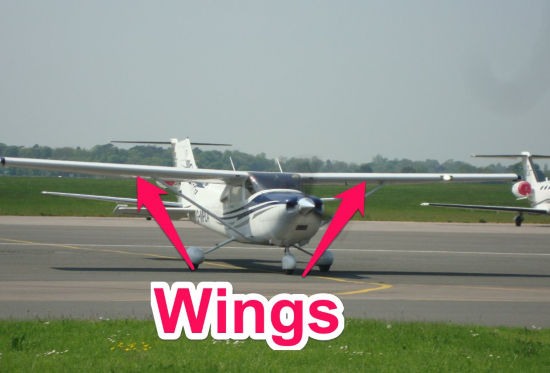 cessna 172 wings - parts of an airplane