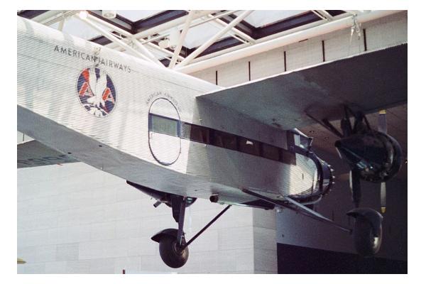 american airways trimotor on display