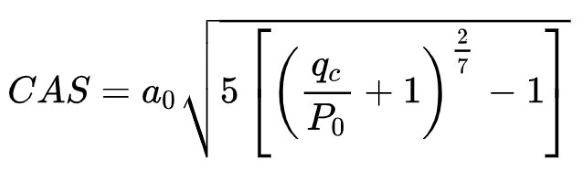 equation for calibrated airspeed