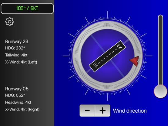 flight winds app crosswind calculator
