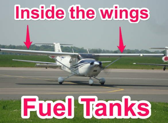 fuel tanks in a cessna 172 - parts of an airplane explained