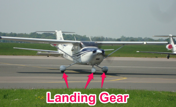cessna 172 landing gear - parts of an airplane
