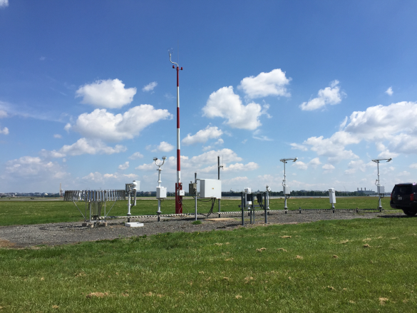 an automated weather observation system - asos at Ronald Reagan washington national airport