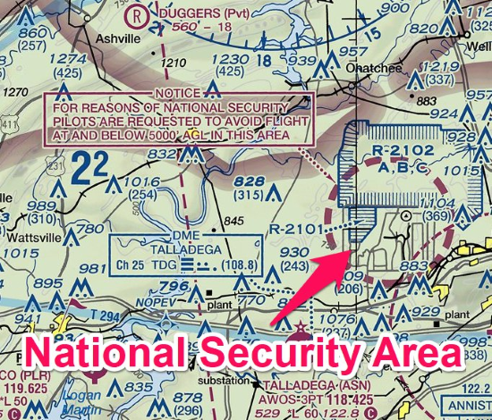 national security area - special use airspace