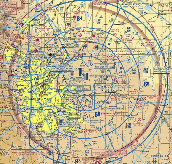 vfr sectional of denver class b airport